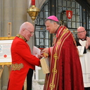 Bishop John Keenan on receiving Letters Patent granting a coat of arms under royal prerogative. photo album thumbnail 27
